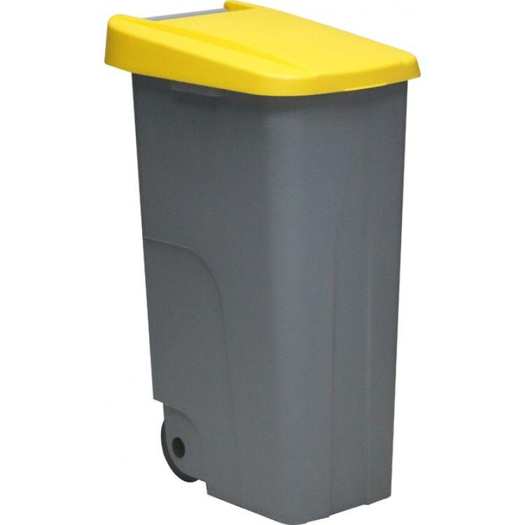Бак для мусора на колесах 85 л. Denox (Желтый)