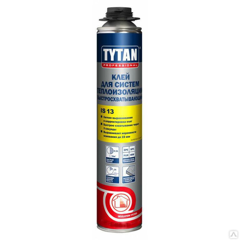 Клей для систем теплоизоляции быстросхватывающий TYTAN Professional IS 13 GUN 870 мл