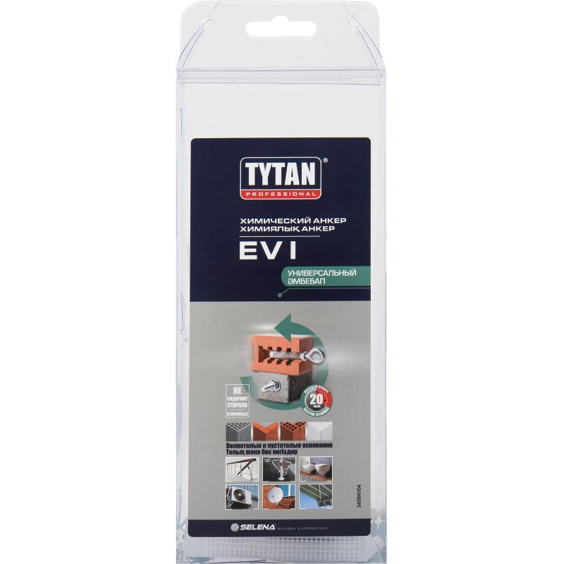 Анкер химический TYTAN Professional Набор: на полиэстеровой основе 165 мл, 1 смеситель, 2 шпильки М8х110, 2 гильзыАнкер химический