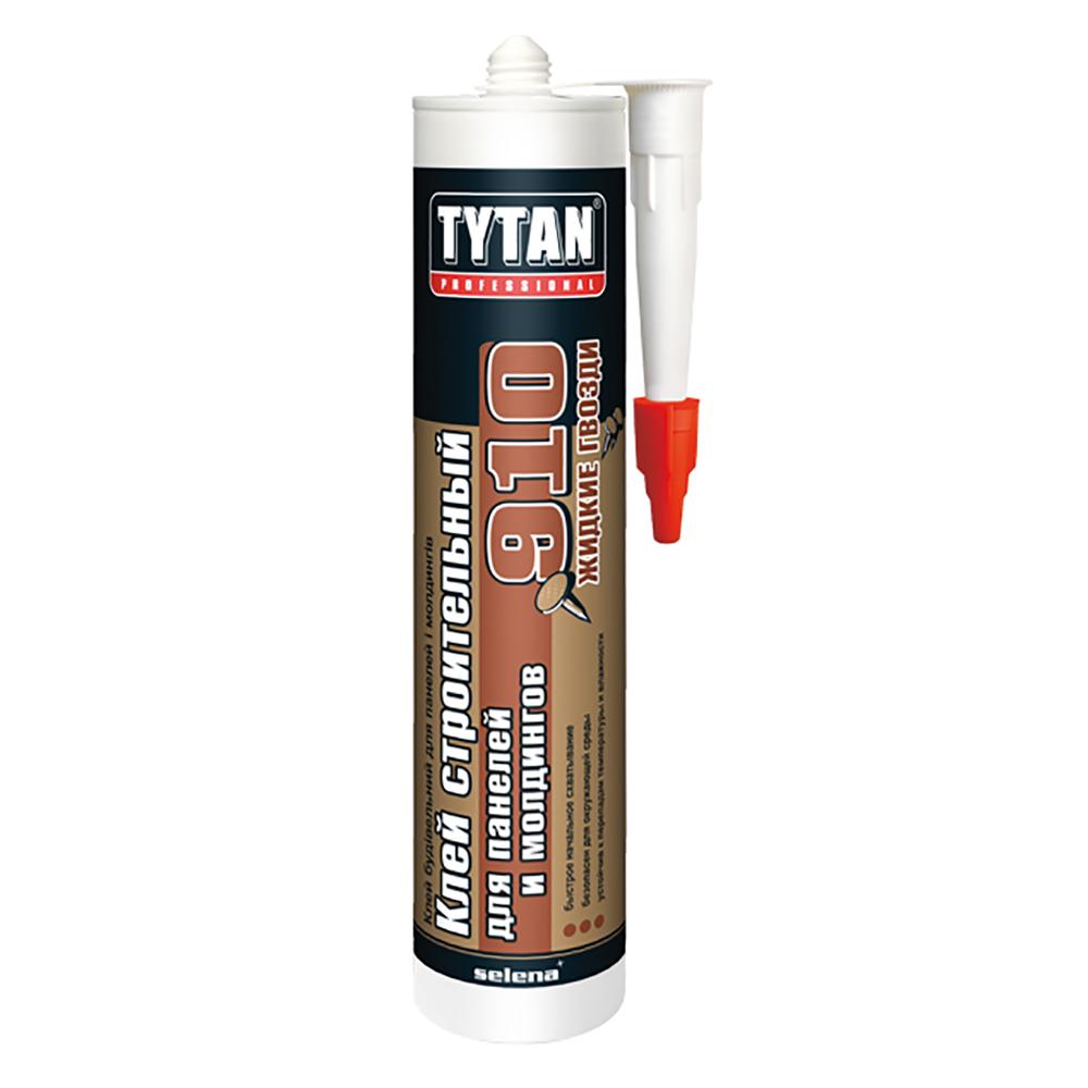 Строительный клей для панелей и молдингов TYTAN Professional №910 белый 440г