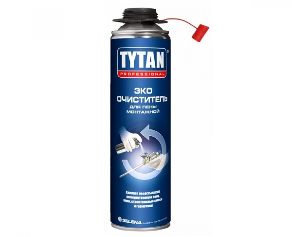 Очиститель для монтажной пены TYTAN Professional ЭКО 500 мл