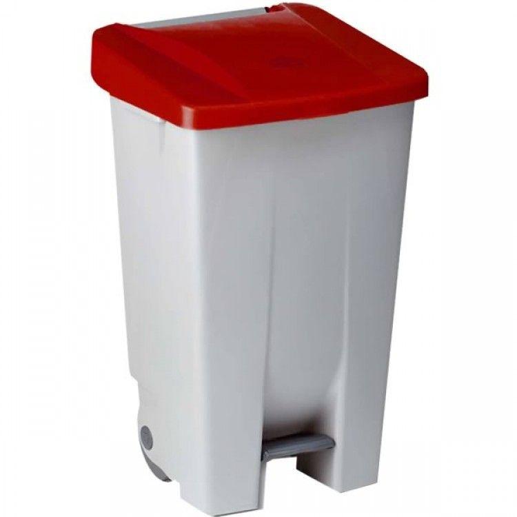 Бак для мусора на колесах 85 л. Denox (Красный)
