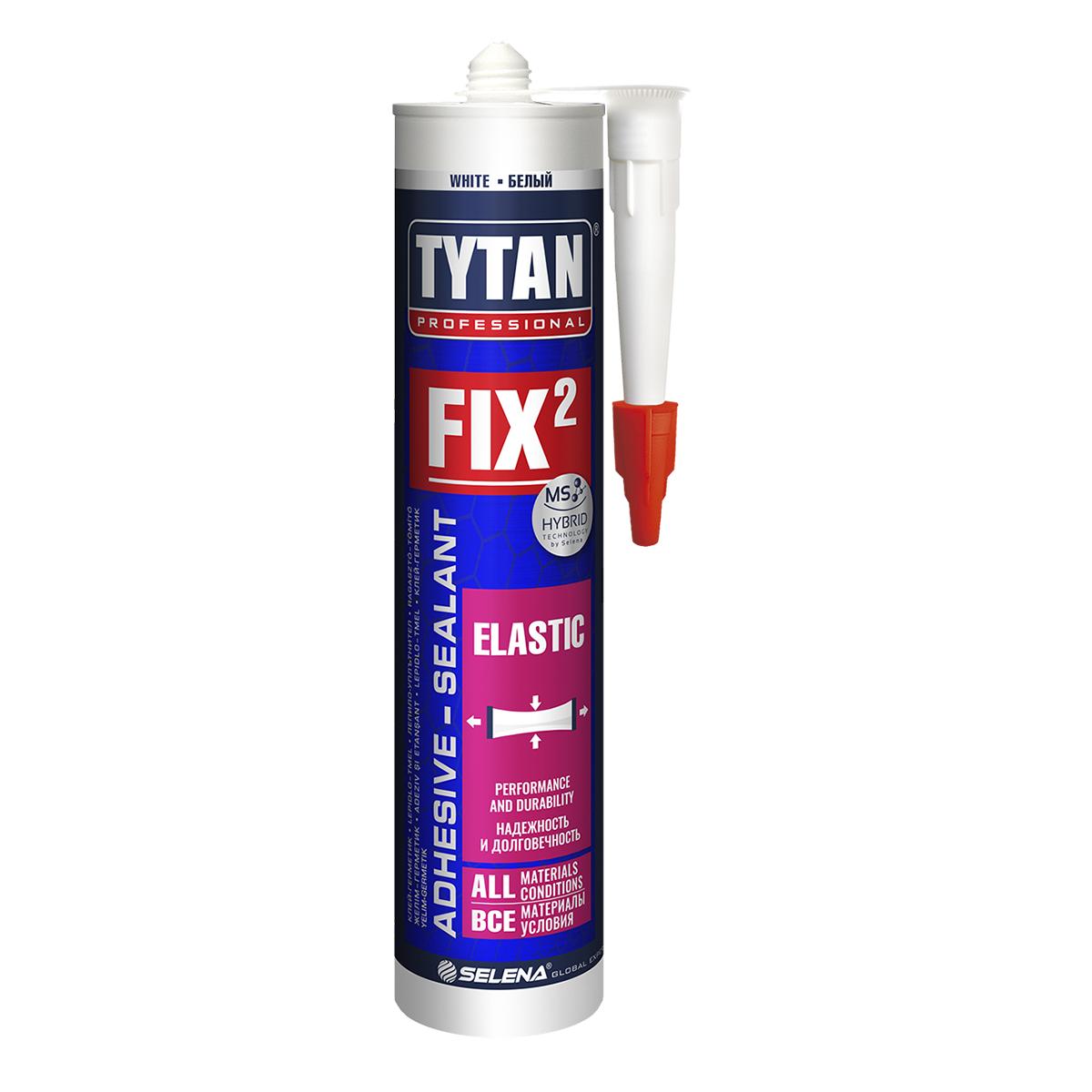 Клей-герметик TYTAN Professional Fix² Elastic, 290 мл
