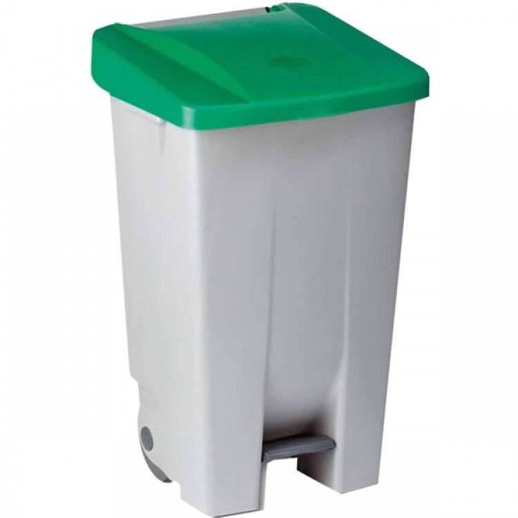 Бак для мусора на колесах 85 л. Denox (Зеленый)