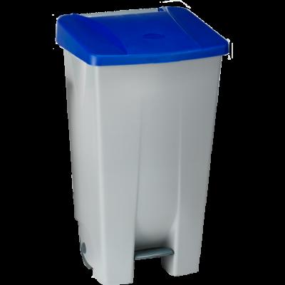Бак для мусора на колесах 85 л. Denox (Синий)