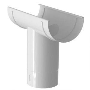 Воронка желоба LINKOR (2 уплотнителя EPDM ,2 паза) (150мм типоразмеры) (алюминий толщина 2 мм)