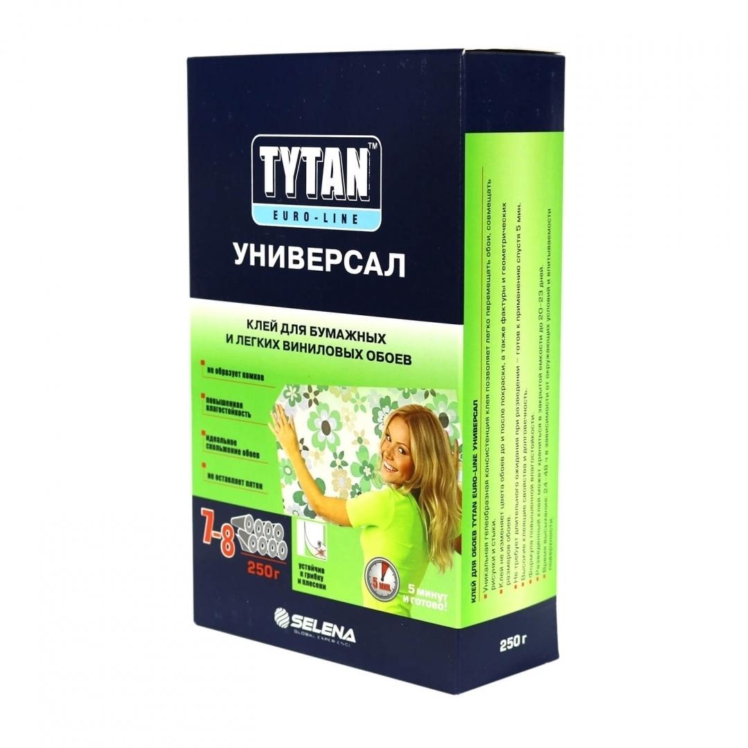 Клей TYTAN Euro-line для бумажных и легких виниловых обоев УНИВЕРСАЛ (12 шт.)