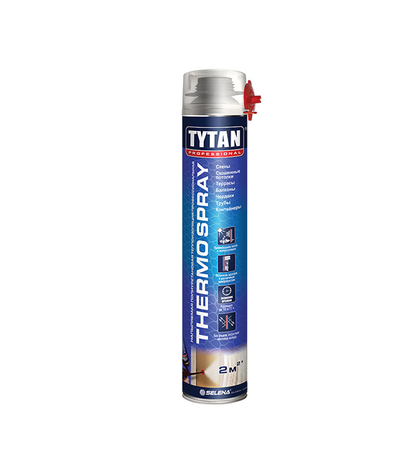 Напыляемая полиуретановая теплоизоляция TYTAN Professional THERMOSPRAY профессиональная 870 мл