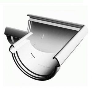 Специальный угол желоба LINKOR(2 уплотнителя EPDM,2 паза)  любой⁰ (150мм типоразмеры) (алюминий толщина 1,2 мм)