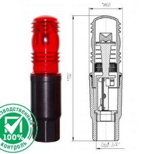 Заградительный огонь малой интенсивности ЗОМ-1-АЛ > 10cd тип «А» 30-265V AC/DC IP65
