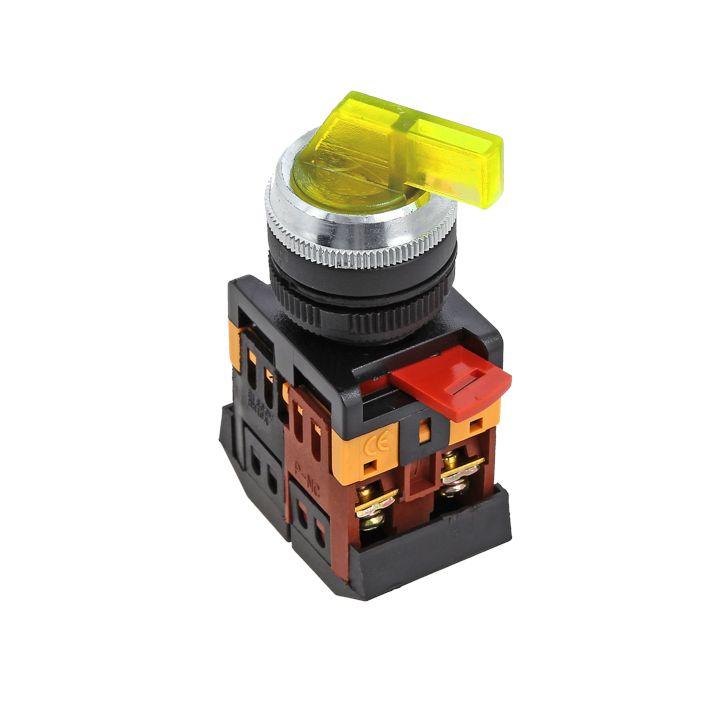 Переключатель ANLC-22 3P желтый с подсветкой 380В NO+NC EKF PROxima