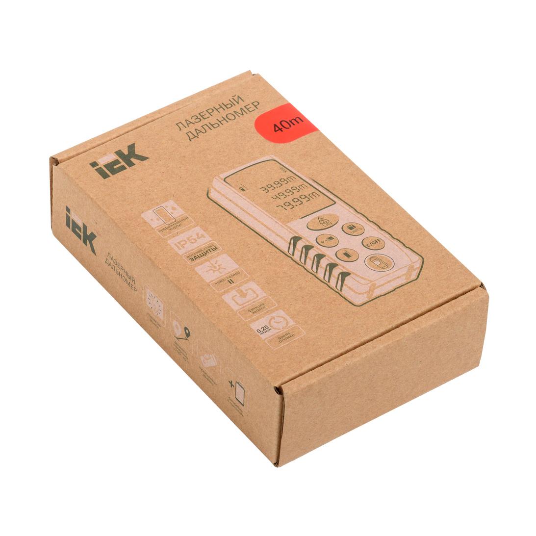 Дальномер лазерный DM40 PROFESSIONAL IEK