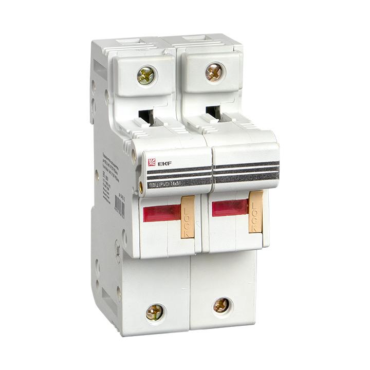 Предохранитель-разъединитель для ПВЦ 14x51 2P (с индикацией) EKF PROxima