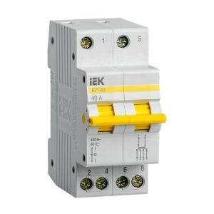 Выключатель-разъединитель трехпозиционный ВРТ-63 2P 40А IEK