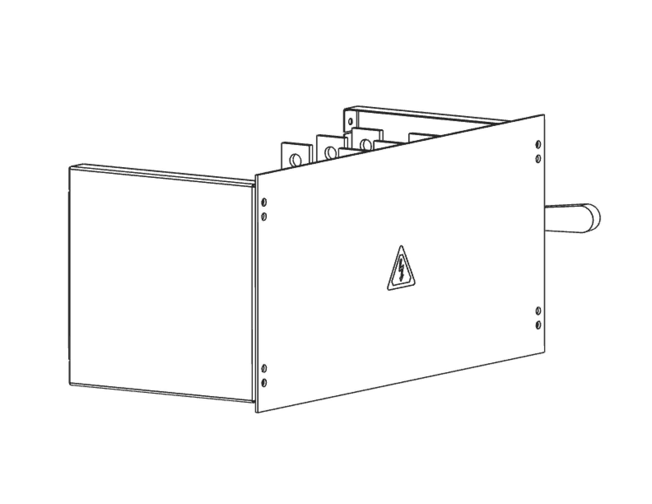 Экран для кожуха рубильника для ВРУ Unit шириной 800ммEKF PROxima
