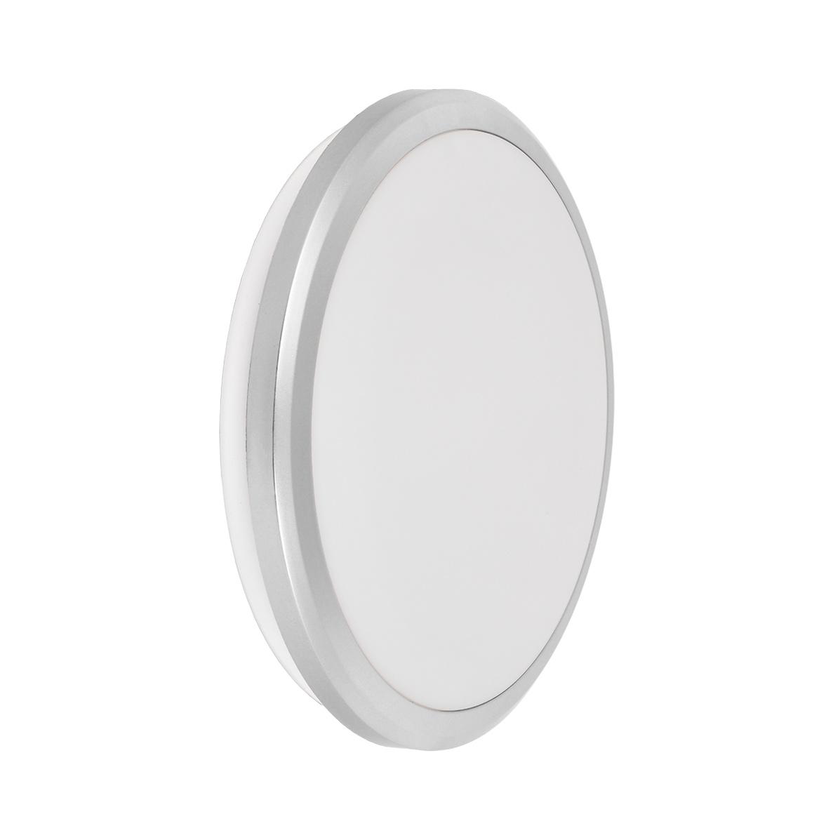 Светильник светодиодный ДПБ 3103 18Вт IP54 4000K круг серебро IEK