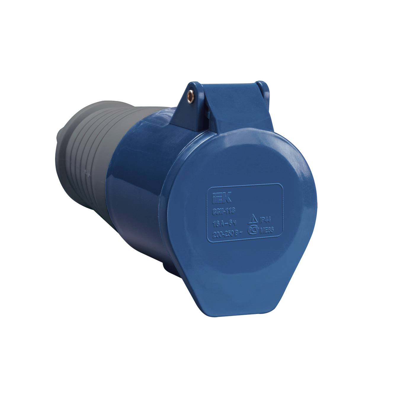 Розетка переносная ССИ-213 2P+PE 16А 200-250В IP44 IEK