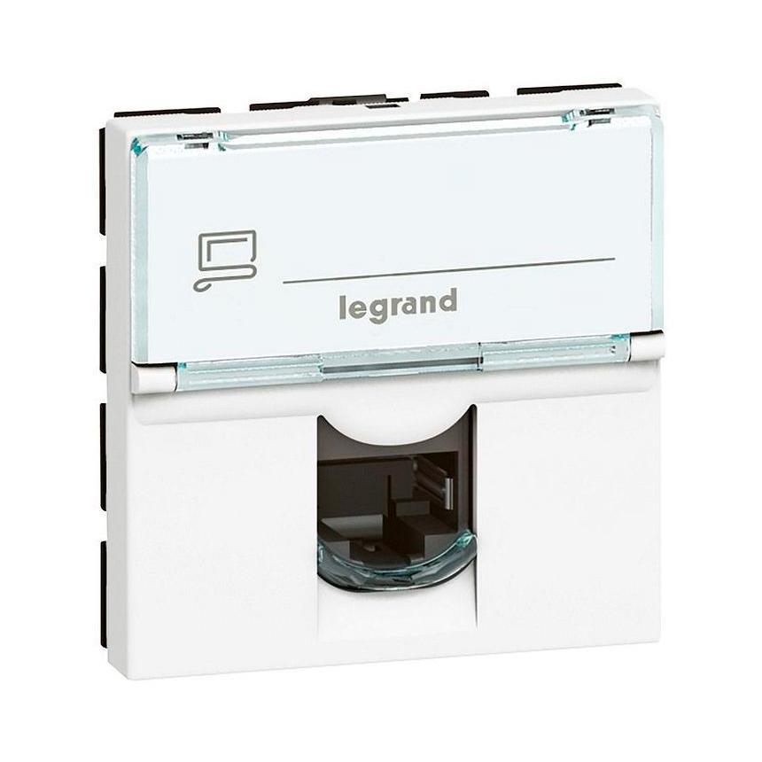 Розетка 1xRJ45 Cat.5 Legrand MOSAIC, белый