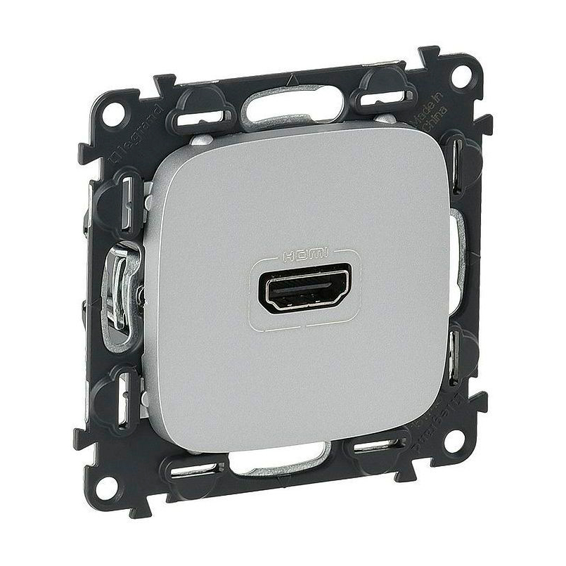 Розетка HDMI Legrand VALENA ALLURE, алюминий