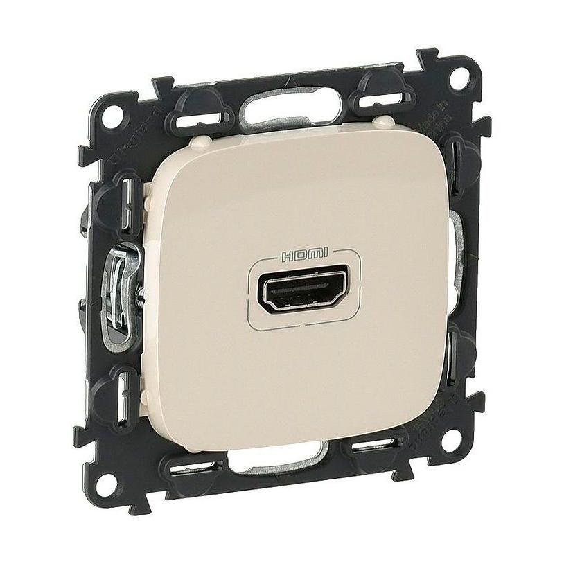 Розетка HDMI Legrand VALENA ALLURE, жемчужный