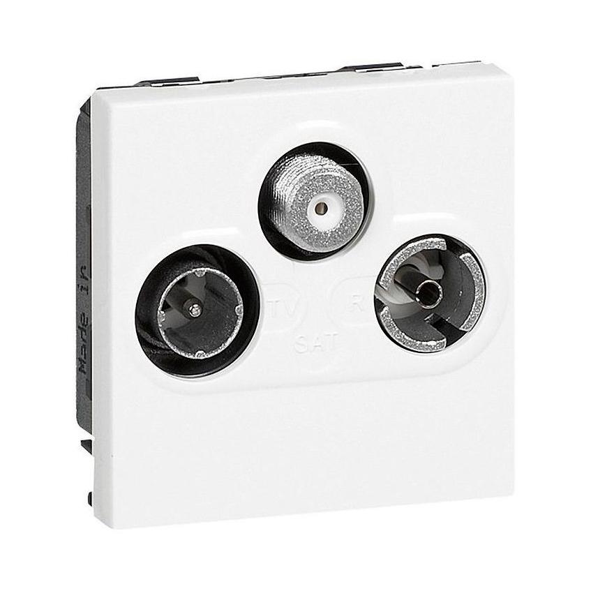 Розетка TV-FM-SAT Legrand MOSAIC, оконечная, белый