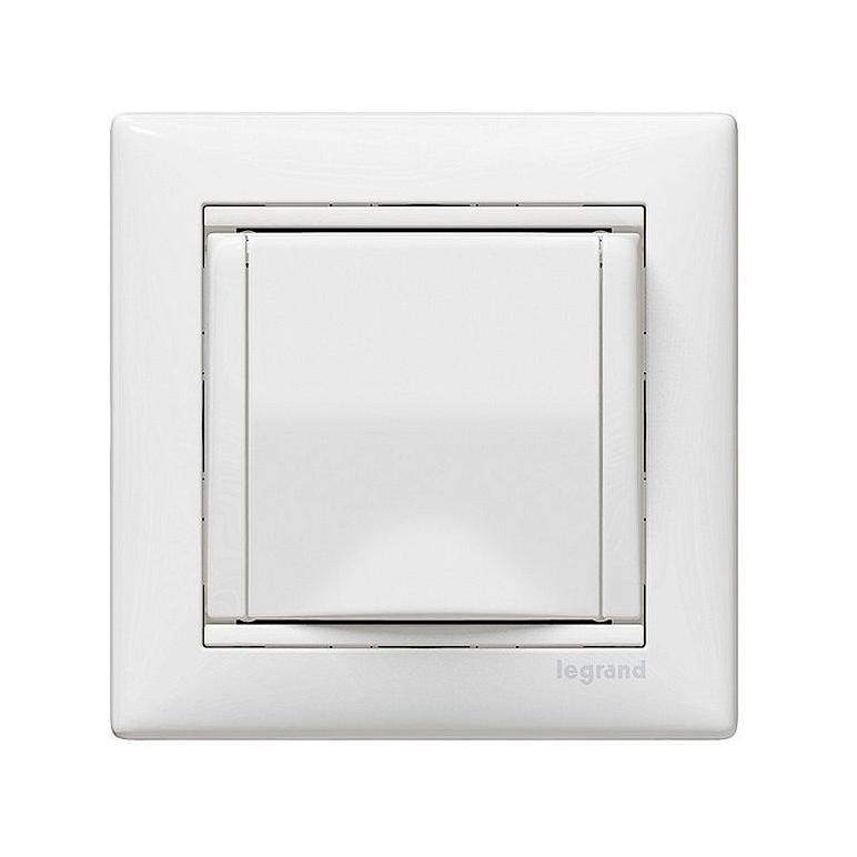Розетка Legrand VALENA, скрытый монтаж, с заземлением, с крышкой, белый