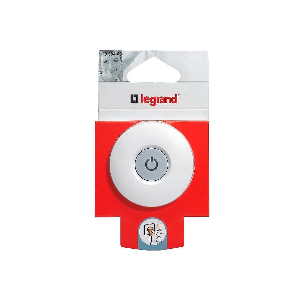 Вилка с выключателем Legrand MOSAIC с заземлением, 16А IP20, белый, 050409