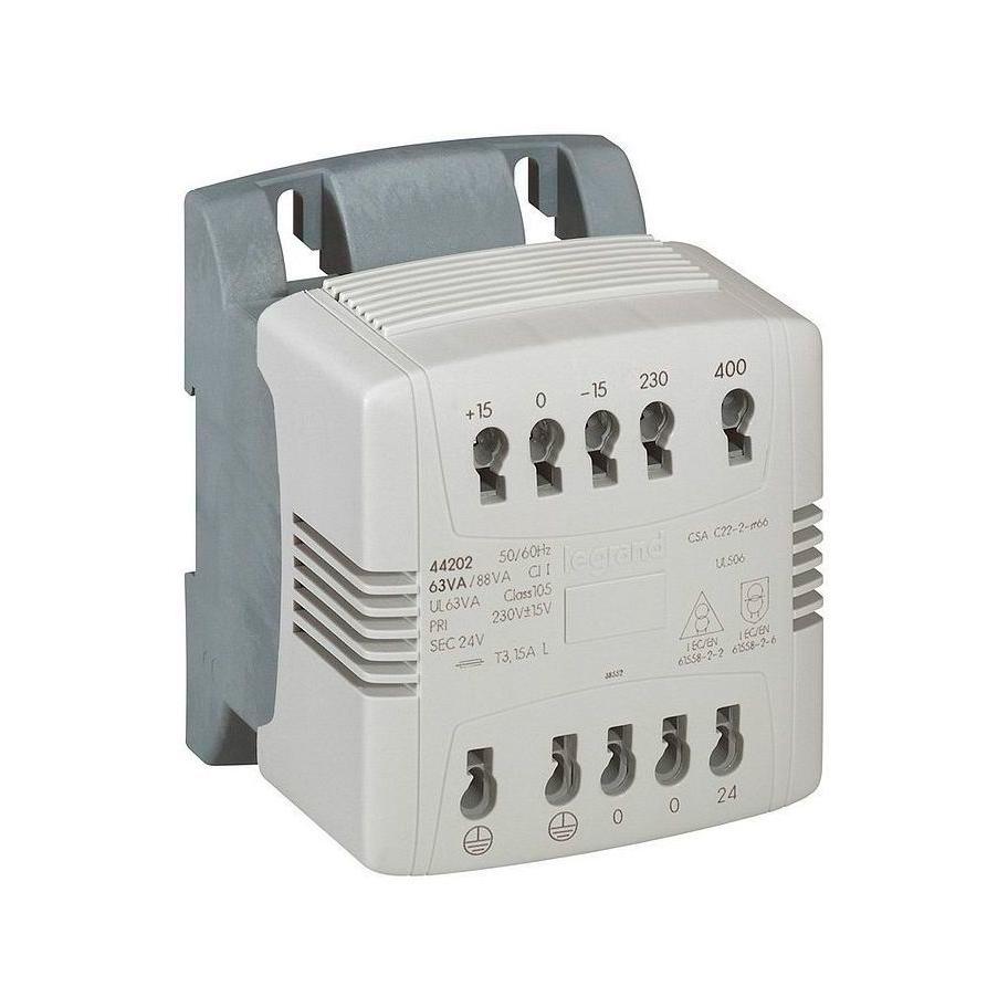 Однофазный трансформатор упр, и обеспеч, безопасности - первичная обмотка 230//400 В // вторичная обмо