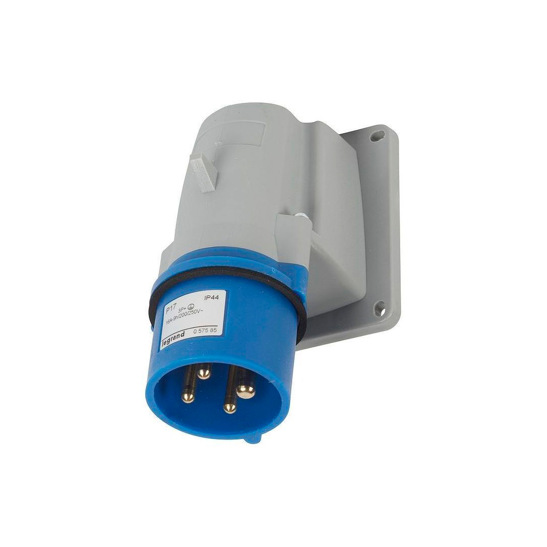 Вилка накладная - P17 Tempra Pro - IP 44 - 200//250 В~ - 16 A - 3К+З