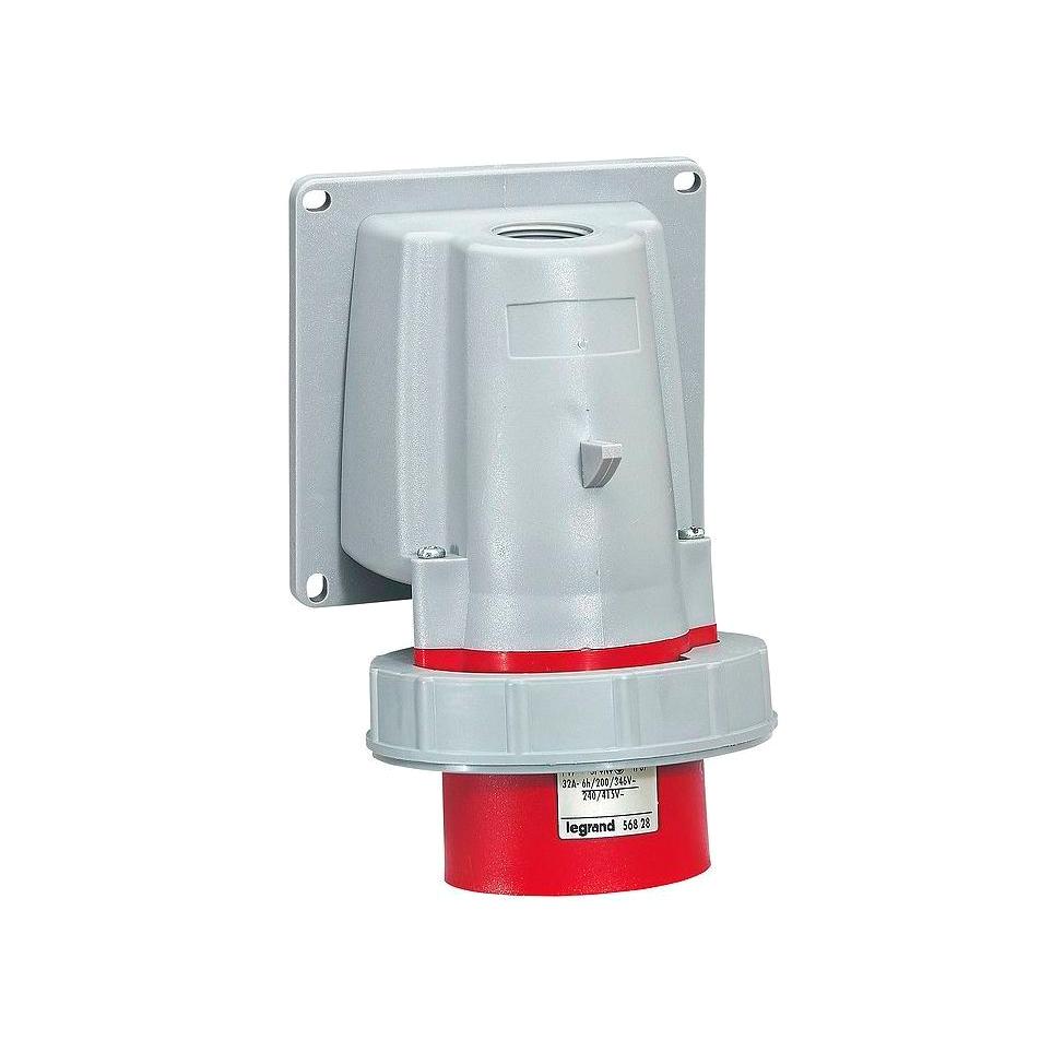 Вилка накладная - P17 Tempra Pro - IP 66//67 - 380//415 В~ - 32 A - 3К+Н+З