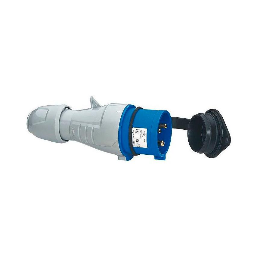Вилка прямая - P17 Tempra Pro - IP 44 - 200//250 В~ - 32 A - 2К+З