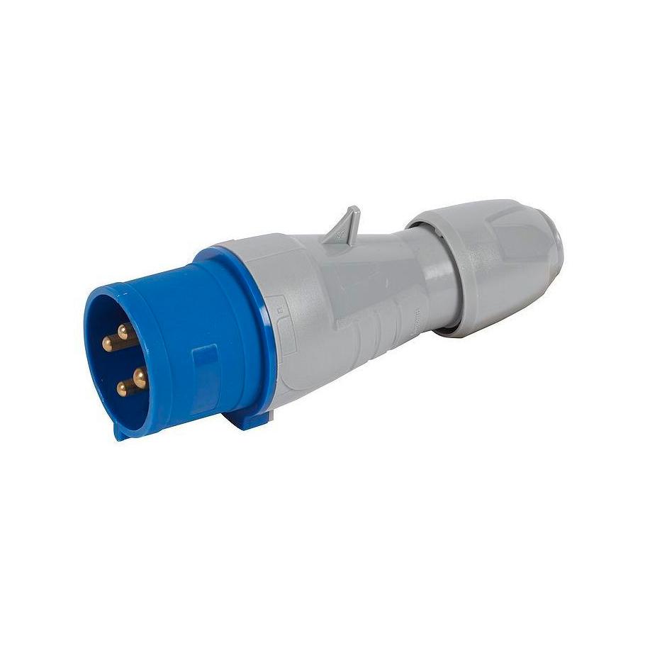 Вилка прямая - P17 Tempra Pro - IP 44 - 200//250 В~ - 32 A - 3К+З