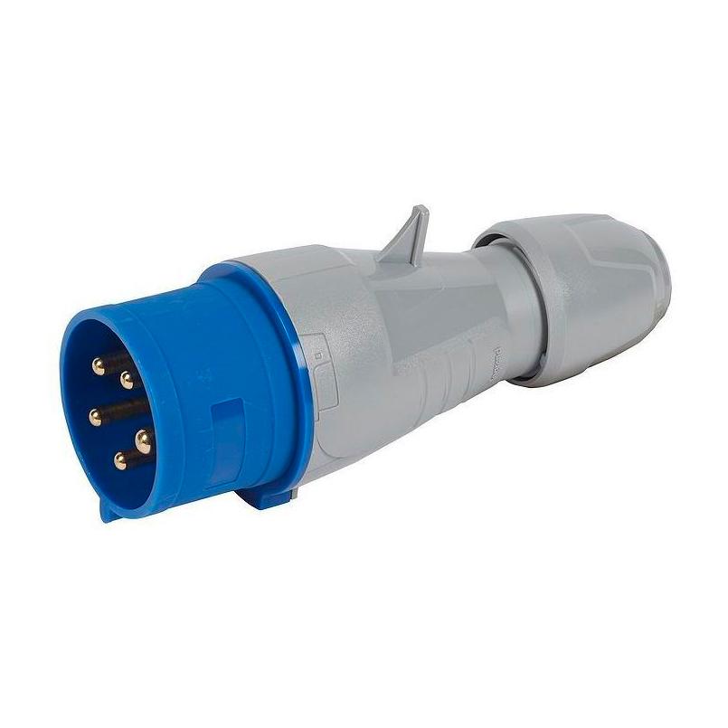 Вилка прямая - P17 Tempra Pro - IP 44 - 200//250 В~ - 32 A - 3К+Н+З