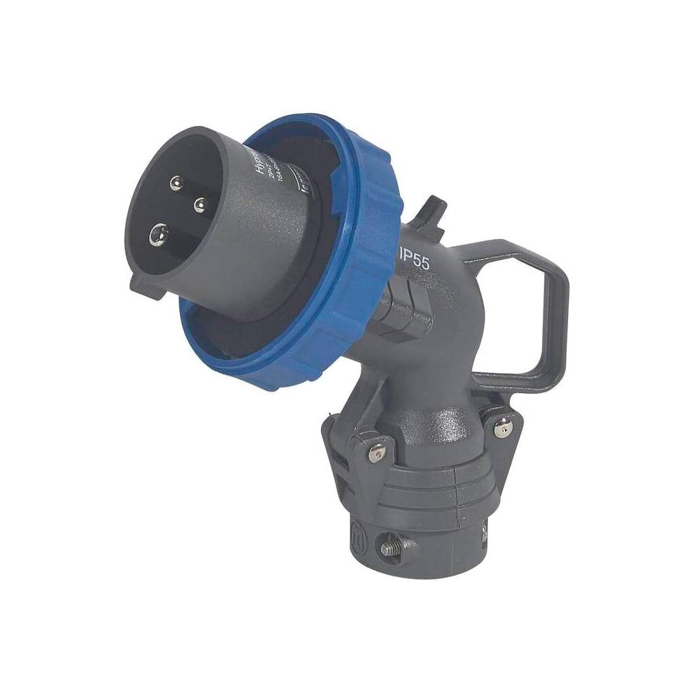 Угловая вилка Hypra - IP 66//67-55 - 2К+3 - 16 А - пластик