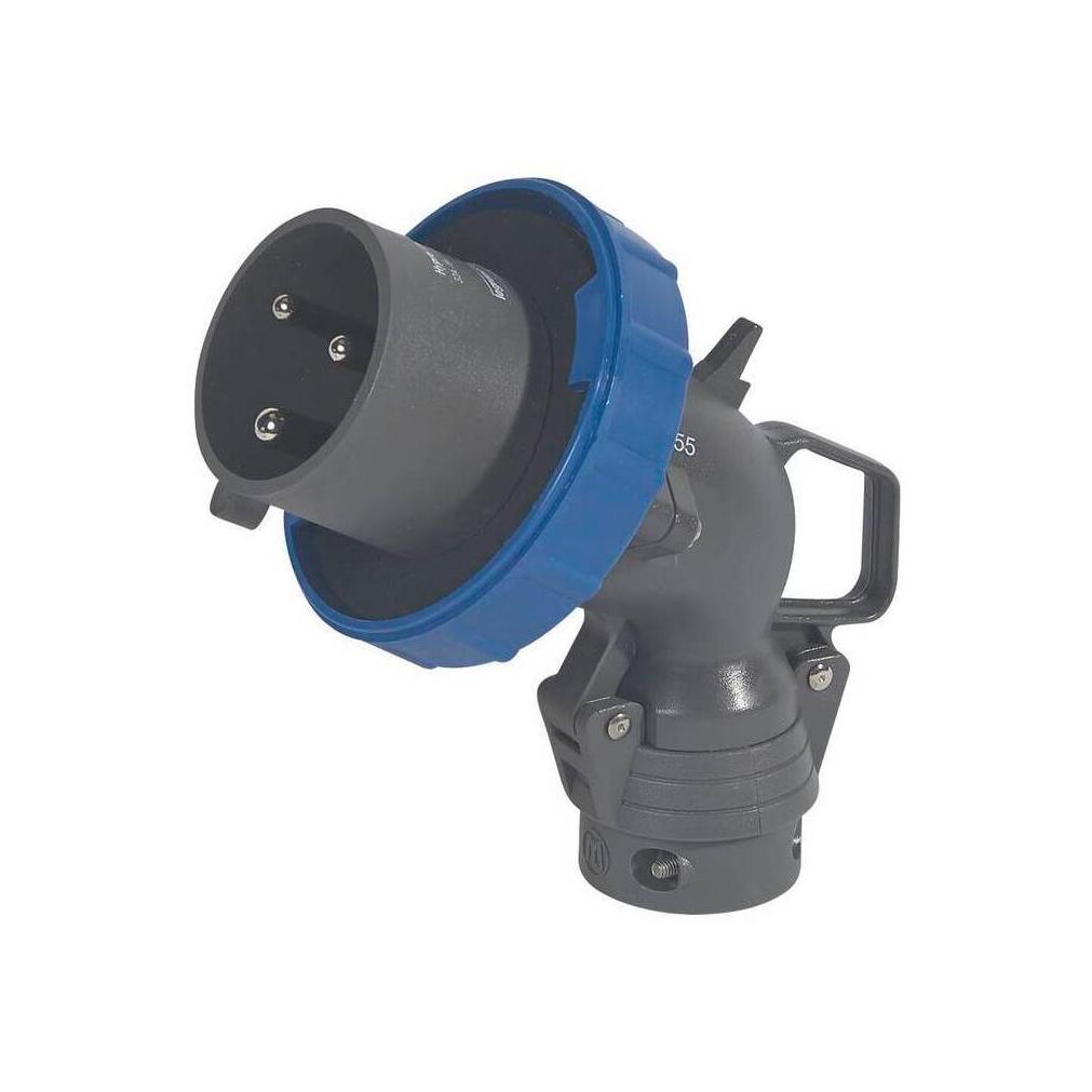 Угловая вилка Hypra - IP 66//67-55 - 2К+3 - 32 А - пластик