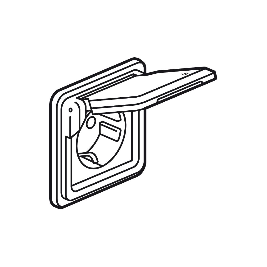 Розетка Legrand SOLIROC, скрытый монтаж, с заземлением, с крышкой, со шторками, хром, 077835