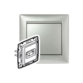 Розетка HD15video Legrand VALENA, алюминий