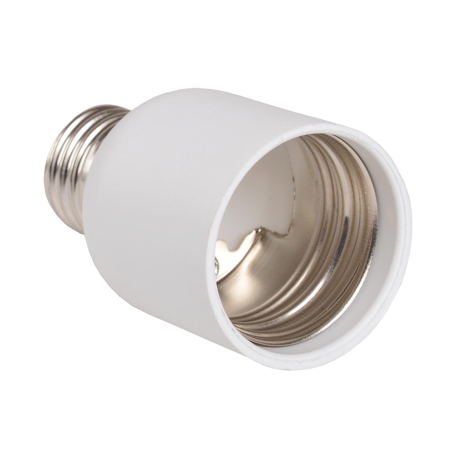 Переходник Е27-Е40 ПР27-40-К02 пластик белый (индивидуальный пакет) IEK