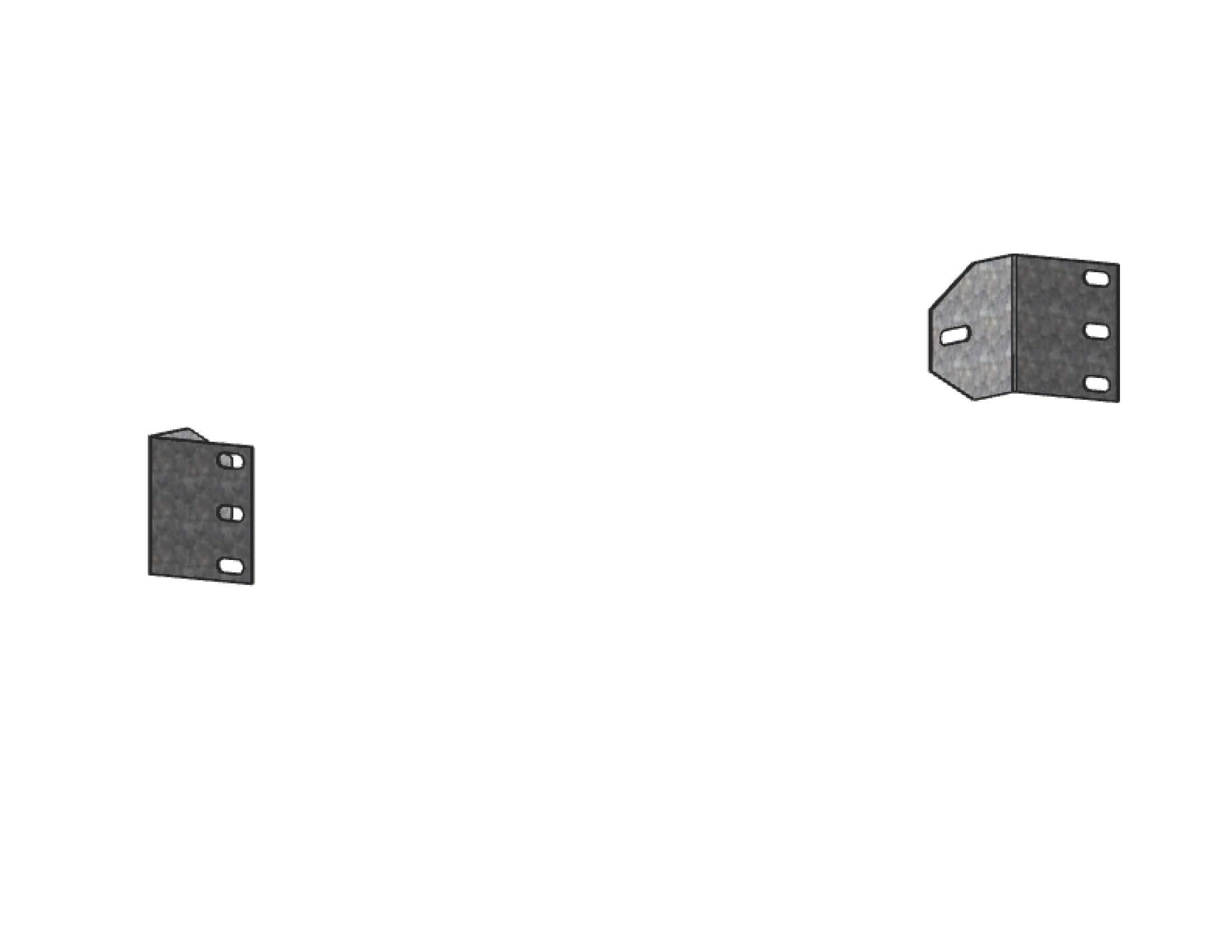 Комплект кронштейнов (2шт.) для Din-рейки для ВРУ UnitEKF PROxima