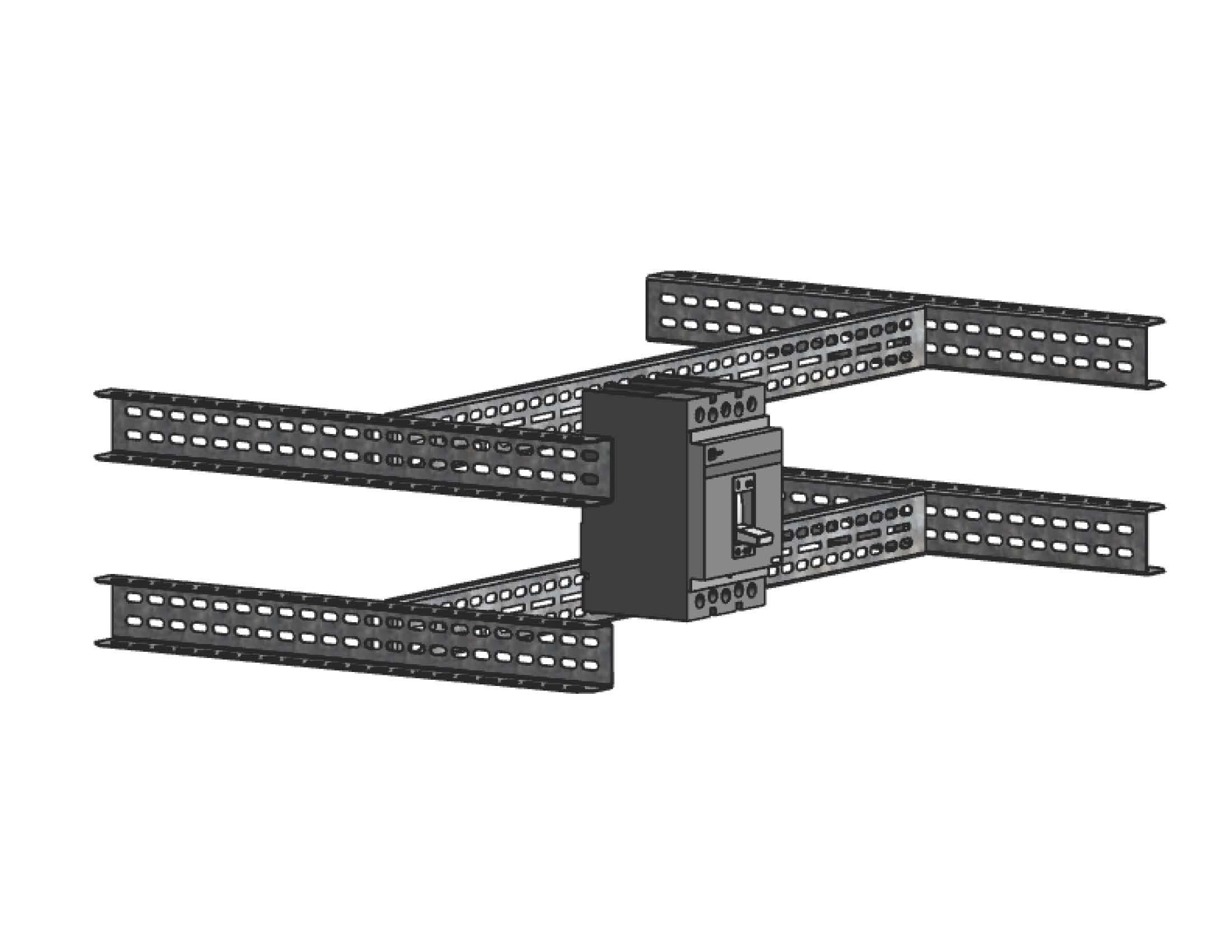 Рейка монтажная для литого корпуса для ВРУ Unit шириной 450ммEKF PROxima