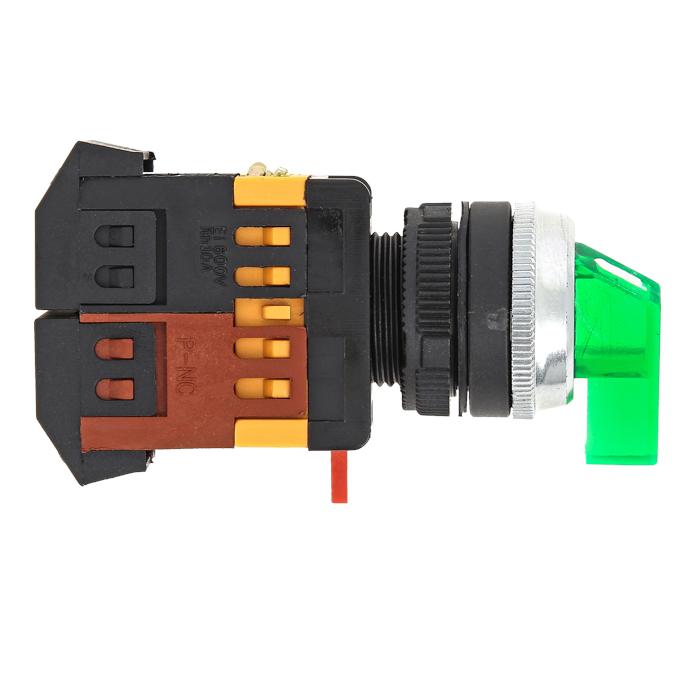 Переключатель ANLC-22 2P зеленый с подсветкой 380В NO+NC EKF PROxima