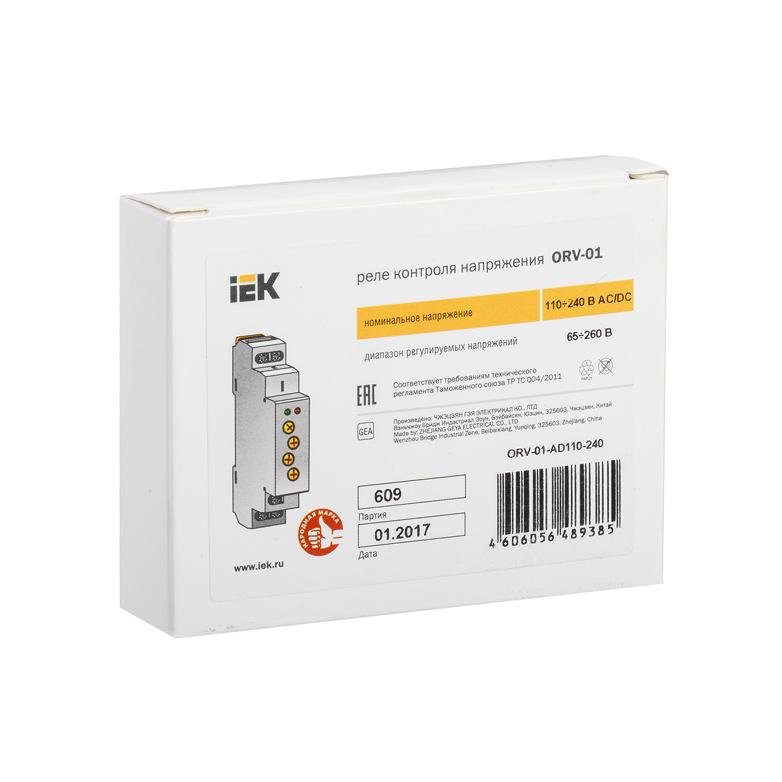 Реле контроля напряжения ORV 1 фаза 110-240В AC/DC IEK