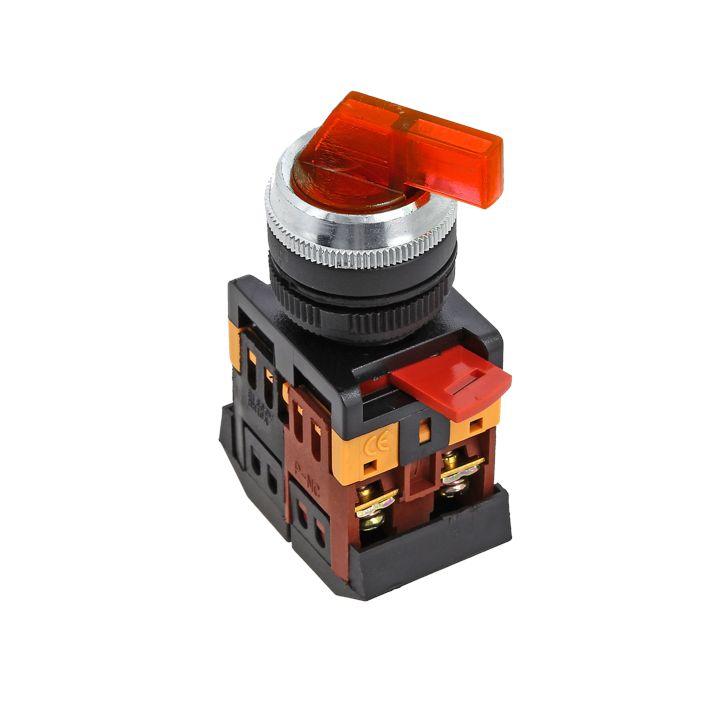 Переключатель ANLC-22 2P красный с подсветкой 24В DC NO+NC EKF PROxima