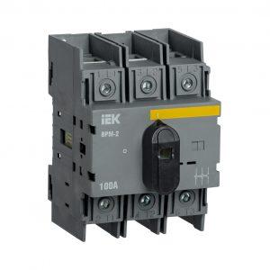 Выключатель-разъединитель модульный ВРМ-2 3P 100А IEK