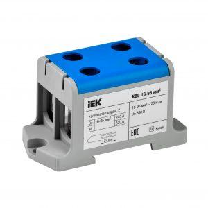 Клемма вводная силовая КВС 16-95мм2 2х-рядная синяя IEK