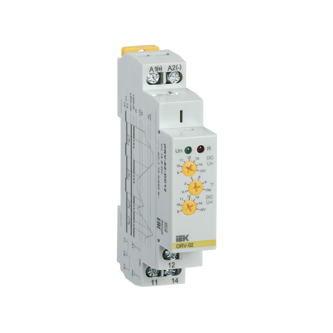 Реле контроля напряжения ORV 1 фаза 12В DC IEK