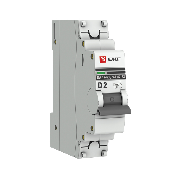 Автоматический выключатель 1P  2А (D) 4,5kA ВА 47-63 EKF PROxima