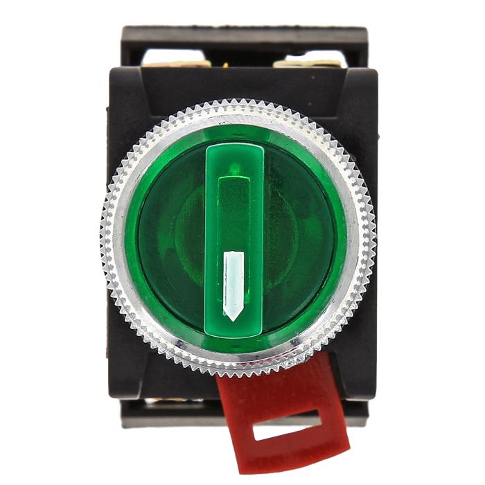 Переключатель ANC-22 2P зеленый с подсветкой 24В NO+NC EKF PROxima