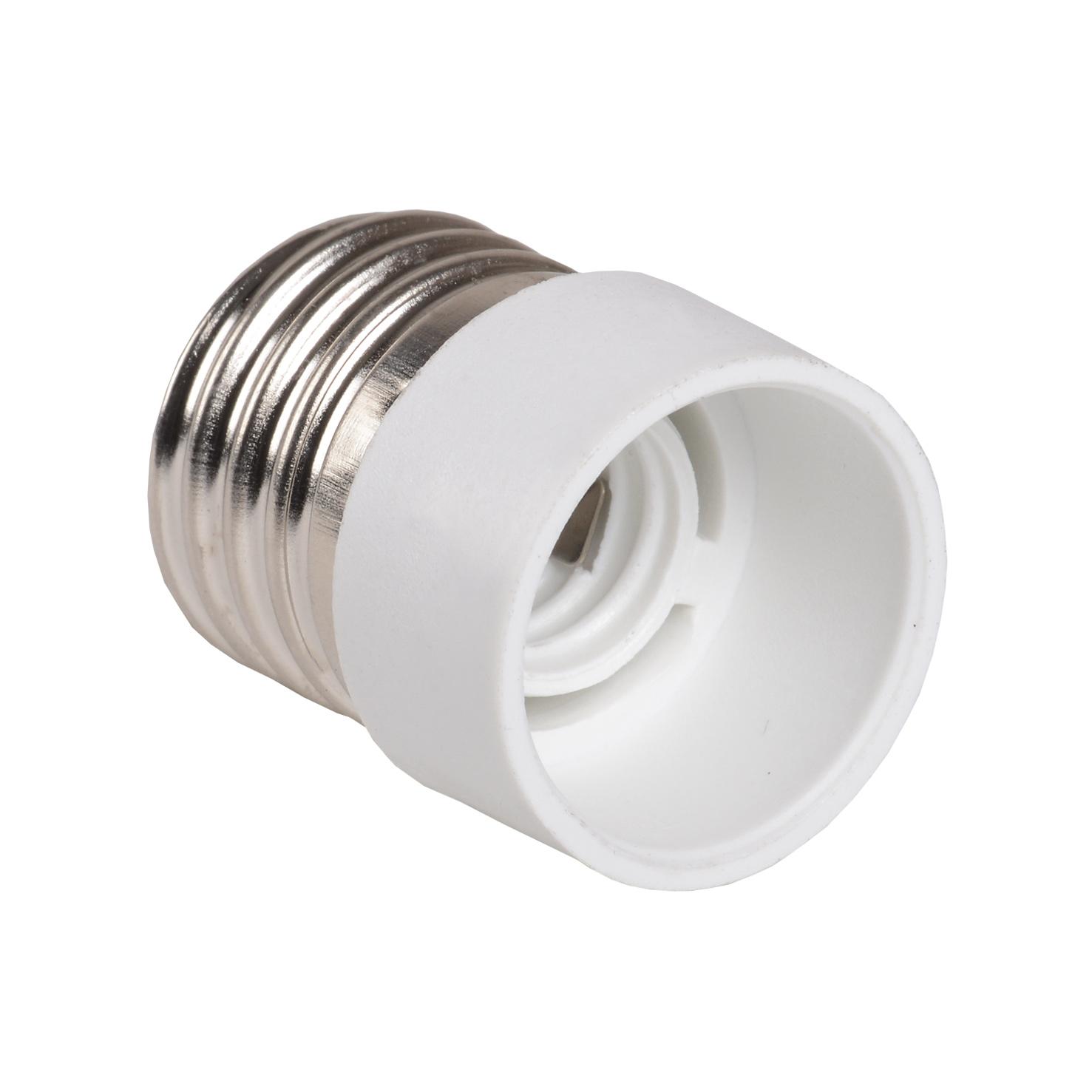 Переходник Е27-Е14 ПР27-14-К02 пластик белый (индивидуальный пакет) IEK
