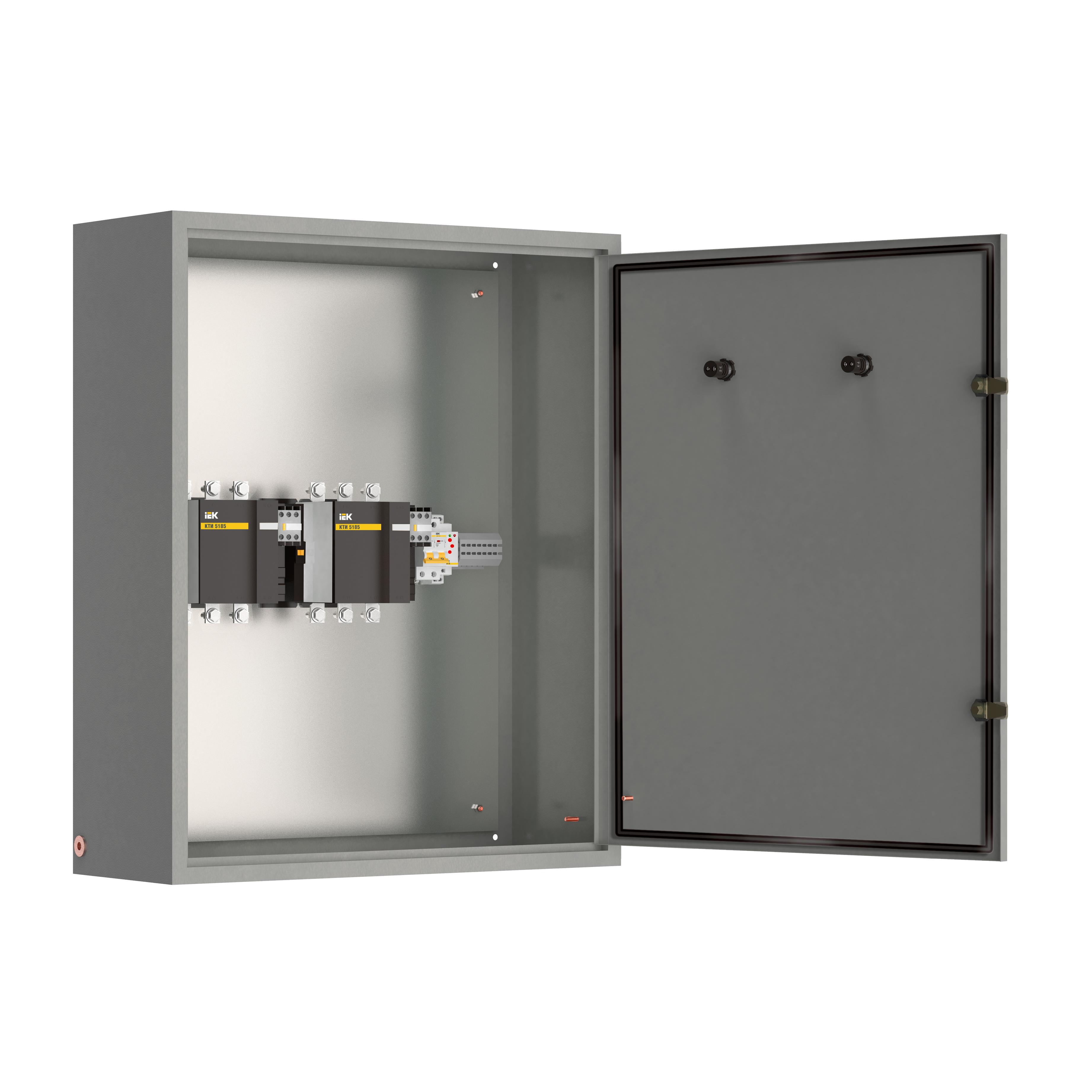 Шкаф управления ШУ8253-12А2 УХЛ4 выключатели автоматические 1Р 1х6А 3Р 1х6А контакторы 2х40А IEK